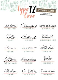 Meer by Anna-Maria Dahms: Lovely Fonts # 12 ~~ Wedding Fonts ~~ Free…