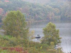 Fall fishing at beautiful Grayson Lake State Park Photo Credit: Linda Britt #kentucky #graysonlake