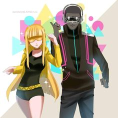Vocaloid Cyber Diva and Cyber Songman