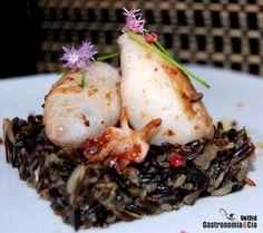 Receta de Calamares rellenos con arroz salvaje