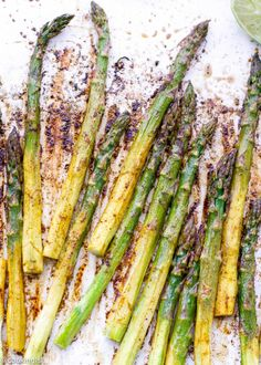 Chili Lime Oven Roasted Asparagus