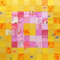 Controlled Chaos scrap quilt - block 19