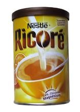 RICORÉ $8.70 Many French would not consider breakfast without Ricoré. This delicious instant drink made of chicory and coffee (and a touch of magnesium) is a natural booster. Add a cup of hot water or hot milk to three teaspoonfuls of Ricoré and get ready for the day!   100 grams / 3.5 oz Coffee Mix, French Food, Grocery Store, Hot Chocolate, Nutella, Tea Time, Sweet Treats, Breakfast, Beverages