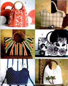 VOGUE HANDBAG Sewing Pattern - Four Different Purse & Bags