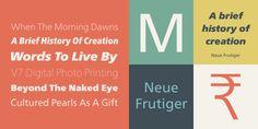 Neue Frutiger® - Webfont & Desktop font « MyFonts