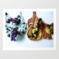 Purple Beaded Mist and Harvest Lace Photography Art Print by BaleaRaitzART - $38.48