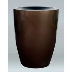 "Allied Molded Products Raleigh Trash Bin Color: Black, Size: 24"" H x 16"" W x 16"" D"