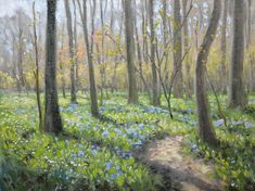 Battlefield Bluebells Painting by Armand Cabrera
