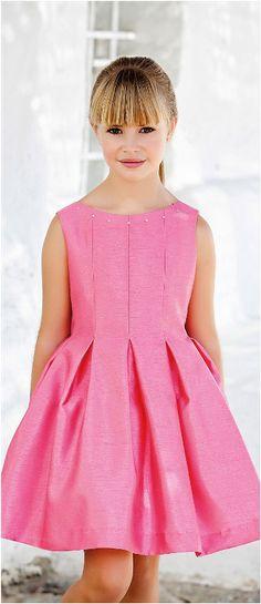 Vestido 22790, color 0029 Fresa-Talla: 4, 6, 8, 10, 12, 14, 16, 18 Colección Amaya