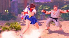 Sakura Kasugano (Street Fighter V) Sakura Street Fighter, Super Street Fighter, Sci Fi Anime, Art Anime, Animation Reference, 3d Animation, Street Fighter Tekken, Kasugano, New Challenger