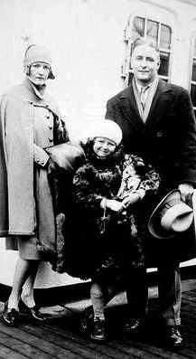 F Scott Fitzgerald crossing the ocean with Zelda and daughter Scottie