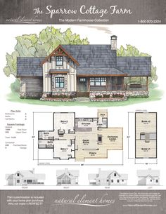 Sparrow Cottage Farm | Natural Element Homes | Modern Farmhouse