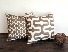 Italian Brown throw pillow cover 20 x 20 ONE by ThePillowPeople
