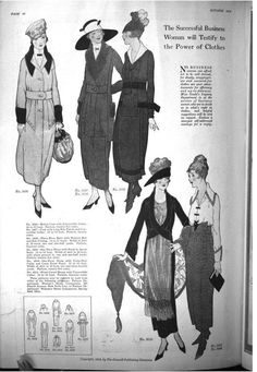 1918 ~ love the blouse and skirt at far right