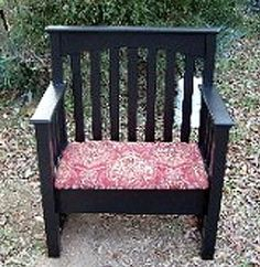 Ways to reuse an old crib. Make it into: Child size chairs, porch benches, jewelry organizer, garden trellis, garden fences, plate holder, art display, chalkboard, child size desk, etc