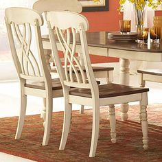 White And Oak Side Chair, Set Of Two Homehills Side Chairs Dining Chairs Kitchen & Dining