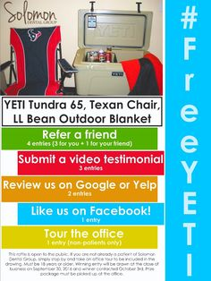 #FreeYETI - REFER A FRIEND AND EARN 4 ENTRIES! Many ways to win. Enter often.