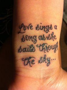 Avett lyric tattoo {love}