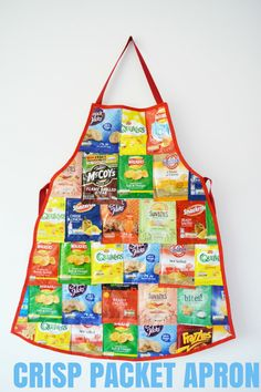vicky myers creations » Blog Archive Recycled Crisp Packet Apron DIY - vicky myers creations