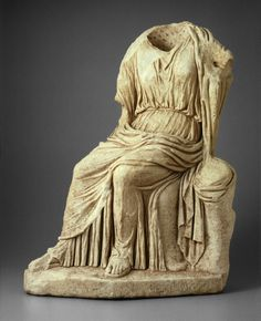Roman    Statue of a Seated Woman, 2nd century A.D.    Marble