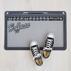 Cool personalized Father's Day gifts: Personalized Fender style amp doormat