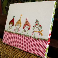 Christmas embroidery mounted on canvas | Flickr - Photo Sharing!