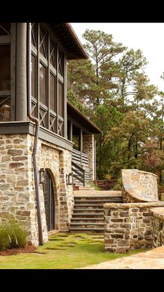 Seven Sticks Lake House Farmhouse Architecture, Architecture Details, Future House, My House, Haus Am See, Porch And Balcony, Fish Camp, Stone Houses, Home Interior