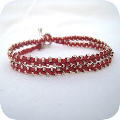 Pavee Double Wrap Cuff Bracelet