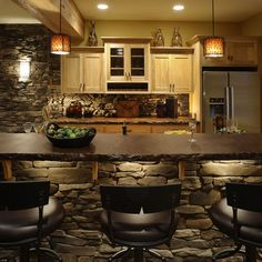 Home Chiseled Edge Stone Counter Top Design Ideas, Pictures, Remodel, and Decor