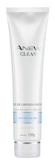 Avon Anew Clean Gel de Limpieza Facial: En un sólo paso logra limpiar, restaurar y preparar la piel dejándola suave y tersa. Avon, Vodka Bottle, Shampoo, Personal Care, Drinks, Beauty, Face Cleaning, Drinking, Self Care
