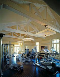 Home Basement Gymnasium and Dance Studio - modern - home gym - dc metro - Rule4 Building Group