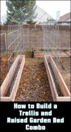 Maximise harvest in your garden with a space-saving trellis and raised garden bed combo. Cucumber, snap peas, green beans, tomatoes… ah, just think … - Pin Decor Bean Trellis, Garden Trellis, Diy Jardin, Building A Trellis, Garden Bed Layout, Olive Garden, Herb Garden, Fruit Garden, Organic Gardening Tips
