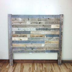 Reclaimed Wood, Headboard, Barn Wood, Pallet, Furniture, Headboards, King Headboard, Pallet Headboard, Rustic, Home Decor, Head Boards, Wood