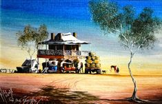 Max Mannix, 'The Old Central' oil on board, signed and titled lower left, Australian Painting, Australian Artists, Bargain Hunt, Ubud, Amazing Art, New Zealand, Old Things, Auction, Scene