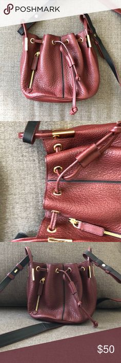 Burnt red small bucket bag Times arrow bucket bag, gold hardware Bags Mini Bags