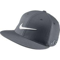 Nike GOLF FLAT BILL TOUR CAP new logo - Dark Grey White 09ed05b6febe