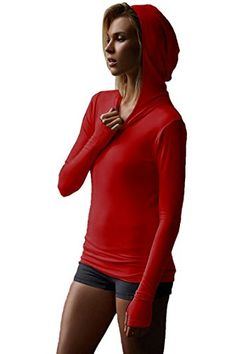 Women's Athletic Hoodies - Elosele Womens Active Wear Bodycon Hoodie Womens Tunic Top Sweatshirts ** Details can be found by clicking on the image. (This is an Amazon affiliate link)