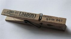 Stamp your details onto a clothes peg for a funky business card