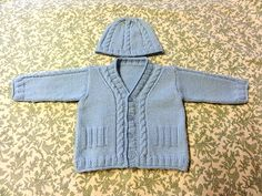 Ravelry: Baby Cardigan with hat pattern by Filomena Lanzara