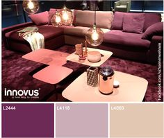 Inspiring shades of pink & burgundy spotted at imm cologne 2014! Find out more INNOVUS unicolour décors at http://www.innovus.co/  (Photo via Schöner Wohnen on Facebook)