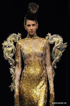asian couture designers | Designer Guo Pei's creations hit Asian Fashion Week - Xinhua | English ...