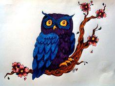 Sharpie art - owl