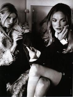 Glamour 1992 November  Faites l'amour pas la guerre Photographer: Mario Testino Stylist:Carine Roitfeld