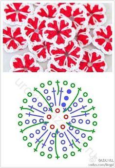 Delicadezas en crochet Gabriela: Florcitas bien fàciles