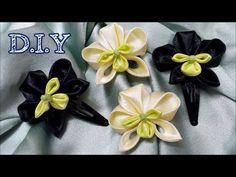 D.I.Y. Satin Kanzashi Orchid Tutorial | MyInDulzens