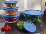 Conjunto de Potes de Vidro 5 Peças - Euro Home VDR3008