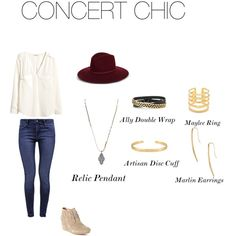 Cocnert Chic by elizabeth-schaeffer-harley on Polyvore featuring H&M, Mavi, TOMS, Stella & Dot and Emilio Pucci