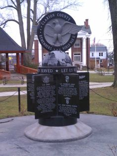World War II Memorial at Clarion County Veterans Memorial Park. Submitted by Zack Bauer. Honor Veterans, Veterans Memorial, Keystone State, Memorial Park, Pennsylvania, Vacations, Eagle, War, Places