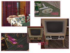 attic jetsam Box Tv, Sims 2, Clutter, Attic, 1980s, Retro Vintage, Decor, Loft Room, Decoration