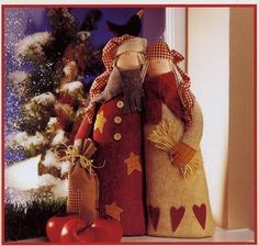 Agulhas Mágicas By Andréia Junqueira: Molde Bonecos e Anjo Tilda para o Natal